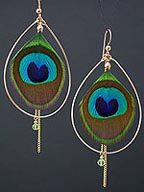 Peacock Earrings from Audrey Hu Jewelry