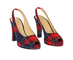 Anthropologie Plaid Shoes