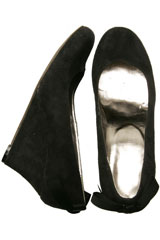 Bow Black Wedge