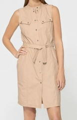 Parachute Poplin dress with pockets