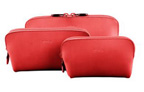 The largest one can be used as a makeup bag the medium one is perfect for