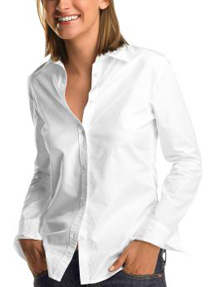 button down white shirt