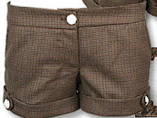 Johnson tweed brown shorts