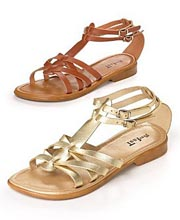 "On Your Feet ""Leola"" Flat Sandal"