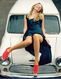 mischa with red keds