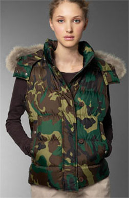 army puffer vest