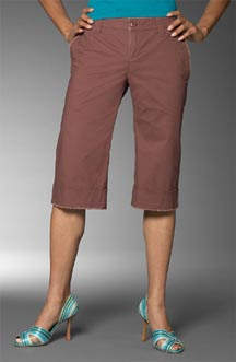 Brown Bermuda shorts