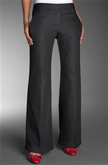 Wardrobe Wide Leg Stretch Denim Pant