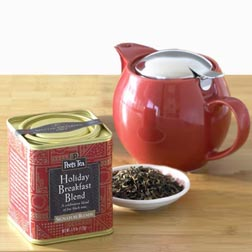 Peet\'s Holiday Breakfast Blend Tea Set