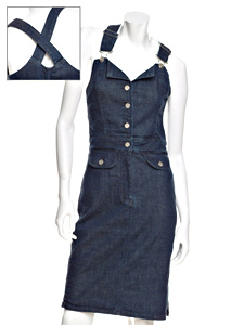 Imitation Denim Romper Dress