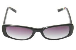 Target Swell Rectangular Black Frames with Brown Lens Sunglasses