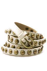 studded double wrap belt