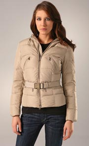 Add Down Belted Puffer Jacket