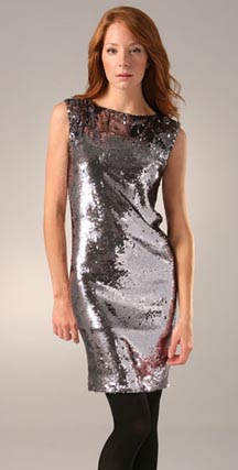 Alice + Olivia Sequined Pencil Dress