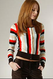 Alice + Olivia Cashmere Striped Cardigan