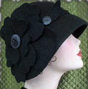 All Black Cloche Hat by Boring Sidney
