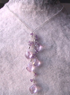 Kelly Meeker Amethyst Briolette Cluster Necklace