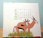 Animal Desktop Calendar