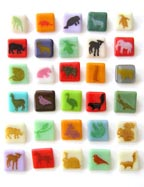 Animal Glass Pins