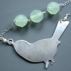 Aqua Eggs Bird Necklace