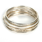 Asha Hammered Rings by Tracy Matthews
