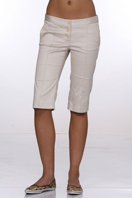 Derek Green Babette Bermudas in Khaki at CoutureCandy