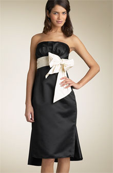 BCBG Max Azria Strapless Taffeta Dress