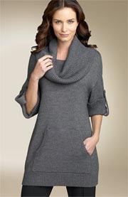 BCBG Max Azria Cowl Neck Tunic Sweater