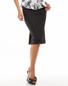 Asymmetrical Slit Pencil Skirt
