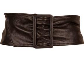 Bebe Wide Leather Belt