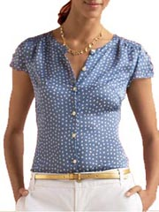 Silk Dot Print Blouse at Banana Republic