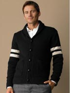 BR Monogram Varsity Shawl Collar Sweater