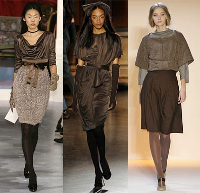 Fall 2008 Fashion Week Trend: Brown