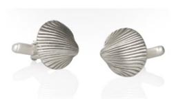 Catherine M. Zadeh Seashell Cuff Links