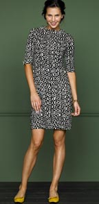 Chain Link Print Merino Sweater Dress