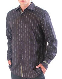 Char L/S Carnaby Fit Shirt - Dark Chocolate
