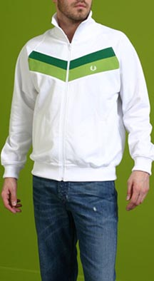 Fred Perry Chevron Track Jacket in White