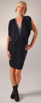 Clu Ruched V Neck Dress
