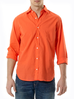 Slim Fit Cotton Voile Shirt by Hartford