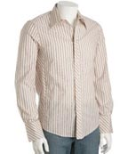 Ben Sherman Cream Striped Sport Shirt