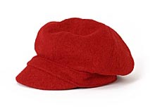 Crimson Newsboy Cap