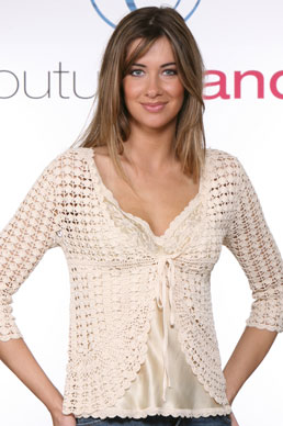 Gold Hawk Crochet Tie Sweater