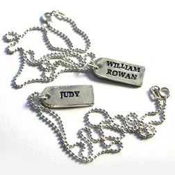 Custom Tag Necklace