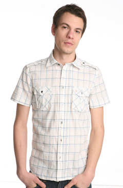 Diesel Sparty Short Sleeve Plaid Woven