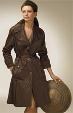 DKNY Metallic All Weather Trench Coat