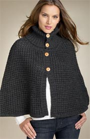 Echo Buttoned Chunky Capelet
