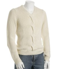 Michael Kors Ecru Cotton Cable Knit Sweater
