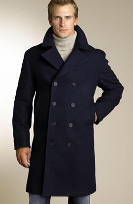 Façonnable Long Peacoat