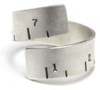 Fancy Pants Tape Measure Silver Ring
