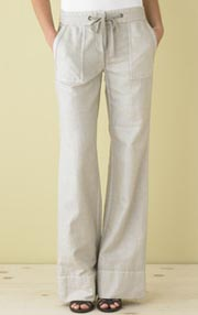 Favorite-Fit Linen/Cotton Deck Pant